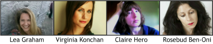 Images of Lea Graham, Virginia Konchan, Claire Hero, Rosebud Ben-Oni.