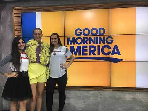 News Two Marist Seniors Team Up For Fashion Design Competition On Abc Tv S Good Morning America
