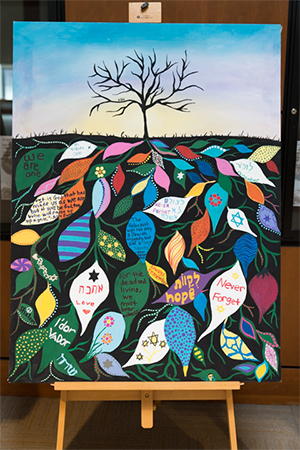 Artwork by students in Marist's Hillel