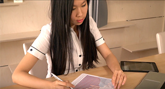Photo of student working at desk