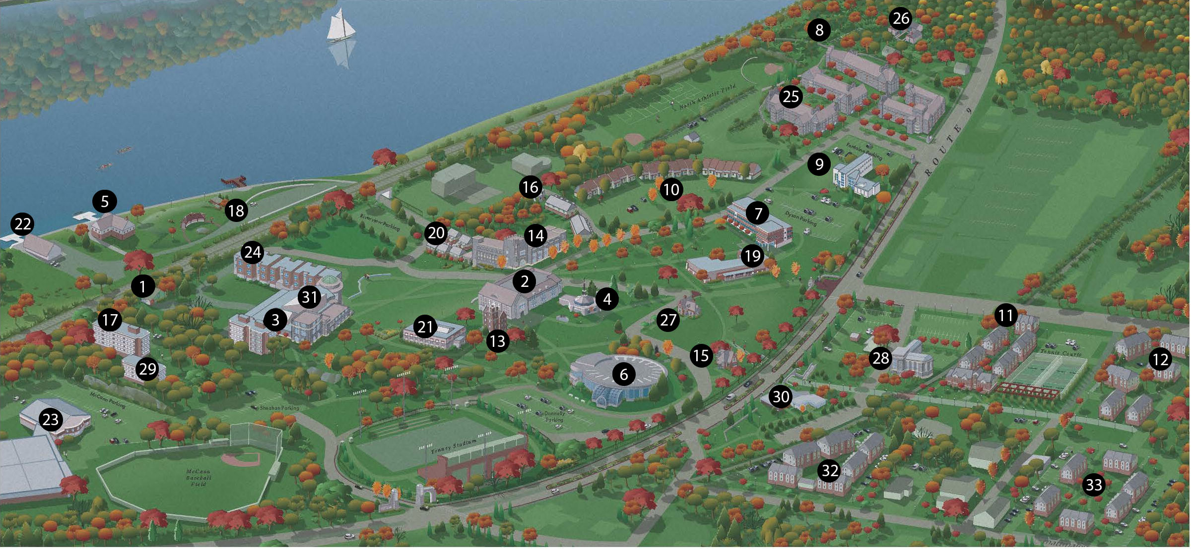 Marist Campus Map About | Campus Map   Marist College