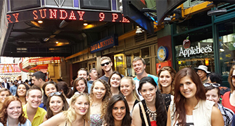 Photo of Marist in Manhattan students in Times Square