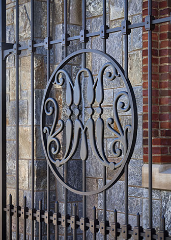 Image of detail on Marist College's Central Gate