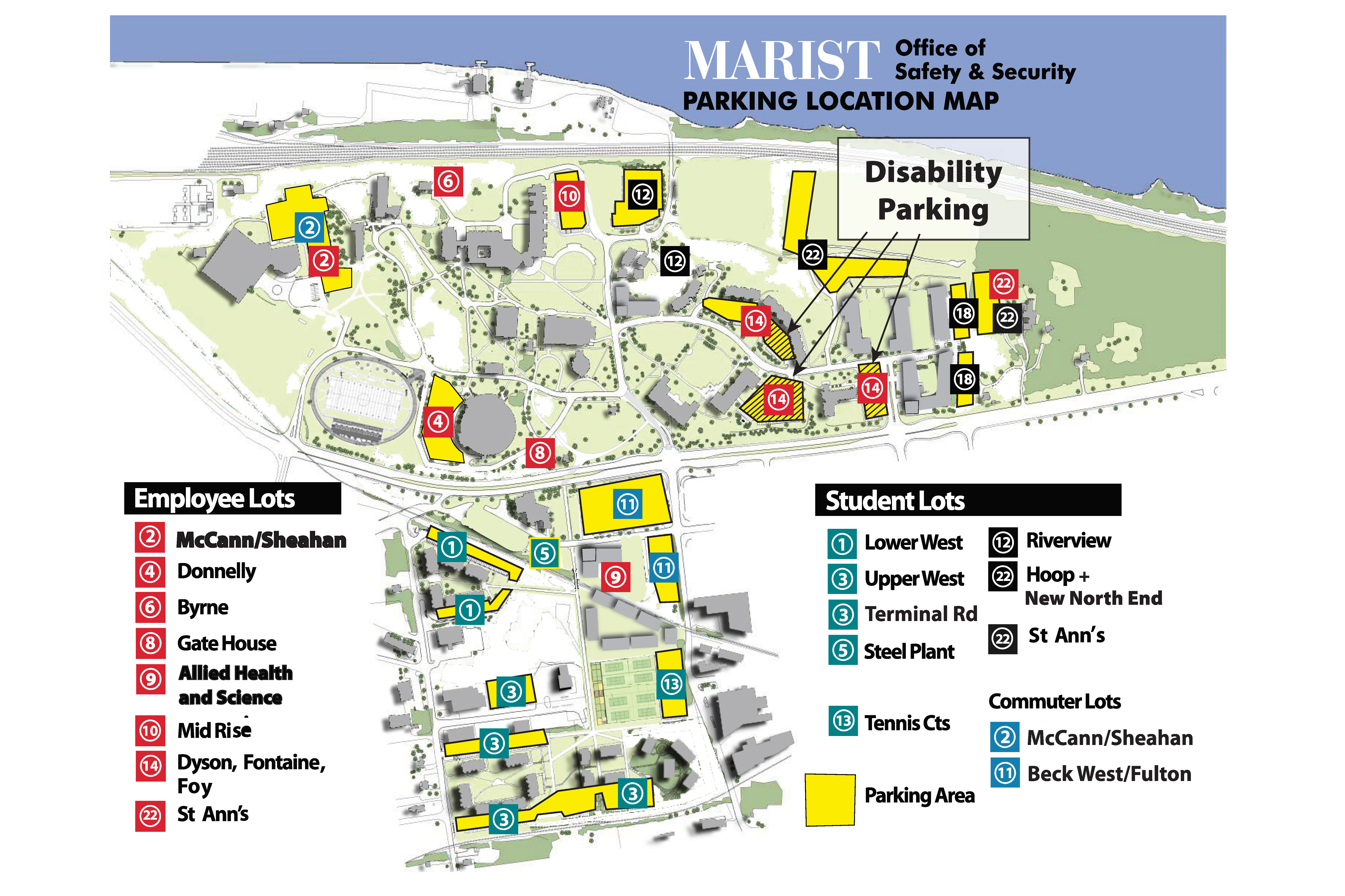 commencement parking map.   Search   Marist College