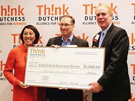 Think Dutchess Presents check to startup challenge students