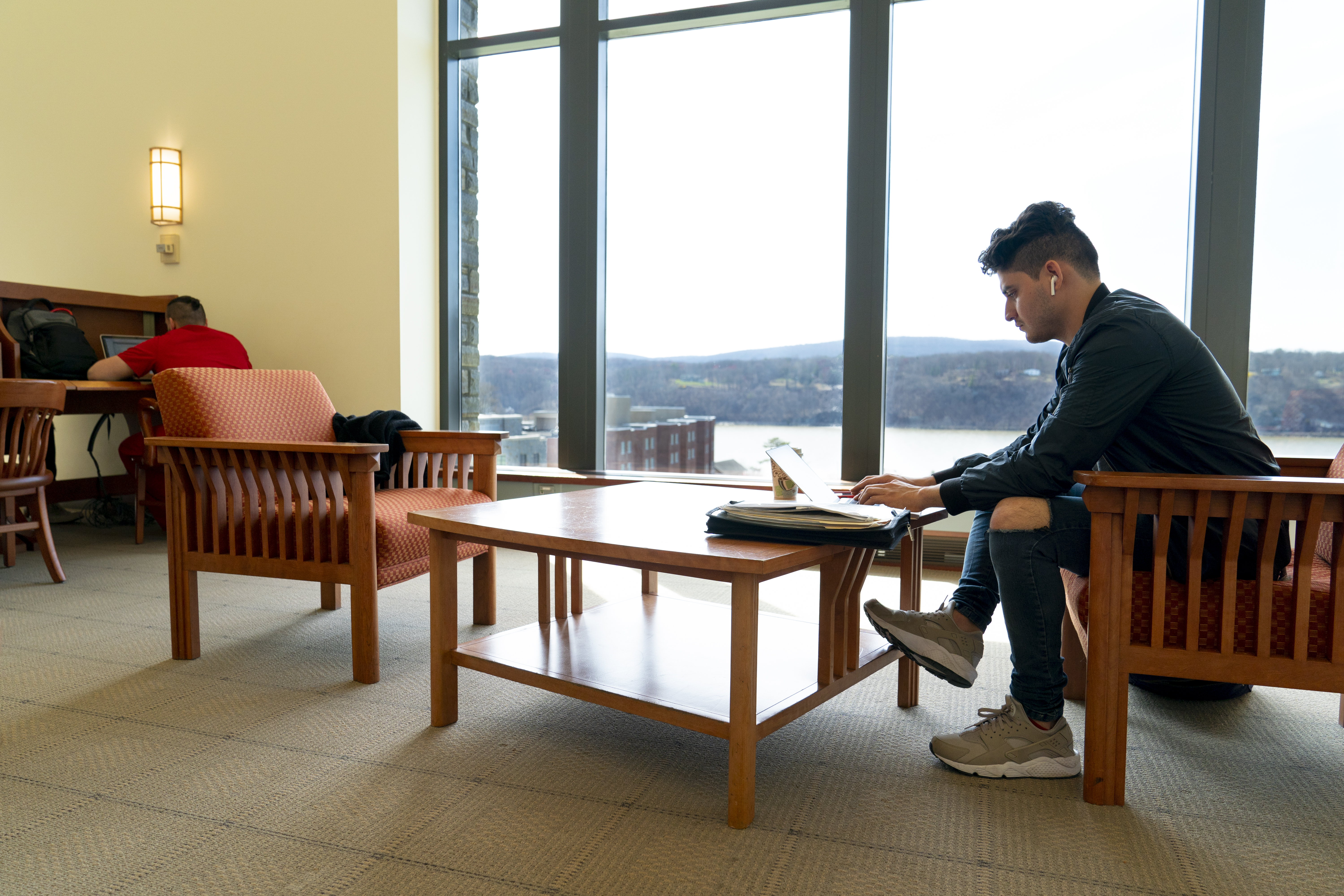 Photo of student in Library