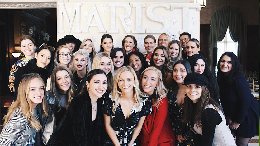 Marist students at The Brunch fashion event