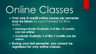 Photo of online classes information for international students