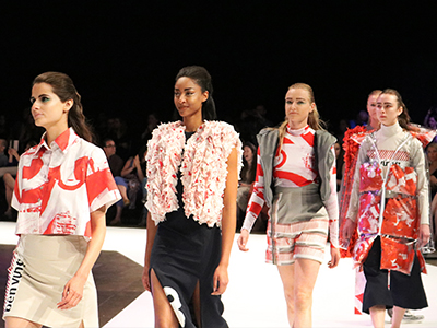 Image of models on runway