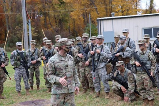 Photo of ROTC student exercise
